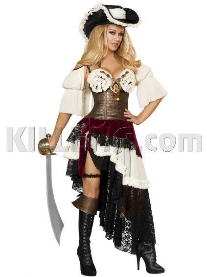 Эффектный пиратский костюм для девушки купить