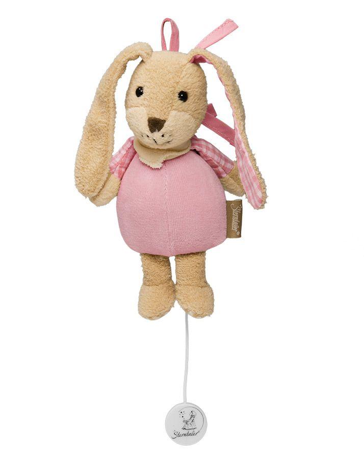Sterntaler mini-speeldoos konijn Hetti  Met een mooi slaapliedje wiegt deze mini-speeldoes uw kindje zachtjes in slaap! Met een bandje om aan box, ledikant of kinderwagen te bevestigen. Voor thuis en onderweg.  www.emmaswereld.nl