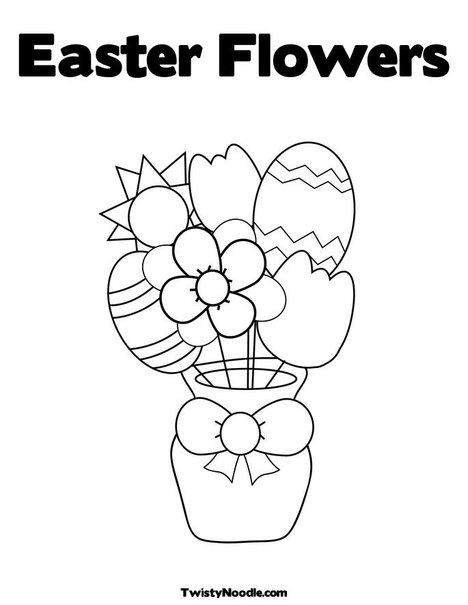 Easter Flowers Colouring Pages : 17 best images about easter printables on pinterest