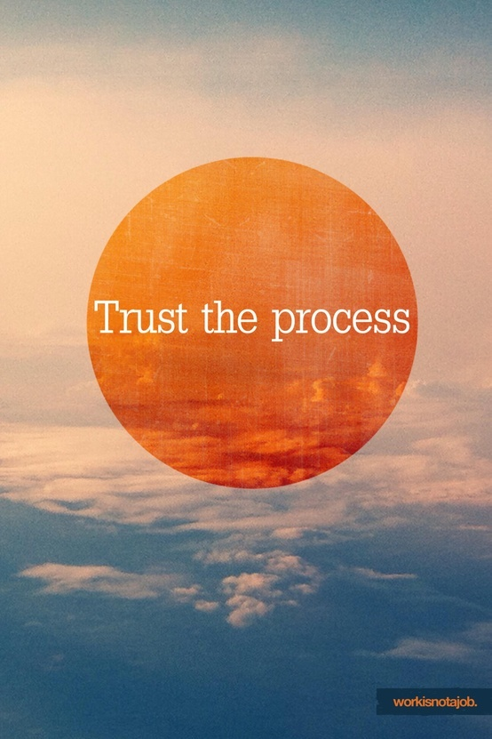 Trust the process. Should hang in office/planner.