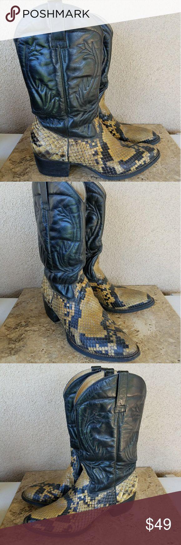 Snakeskin Cowboy Boots Size 9.5 Snakeskin cowboy boots size 9.5 Shoes