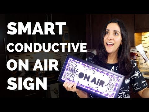 Smart On Air sign made with Electric Paint, a Pi Cap and Raspberry Pi Zero by Estefannie Explains It All!