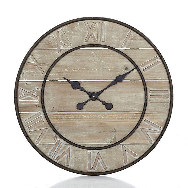 Woody 2 Grande horloge en bois 63.5cm