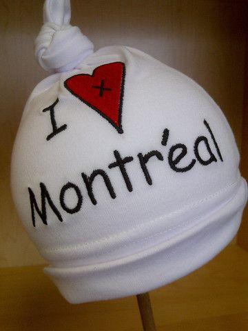 I Love Montreal Baby Hat