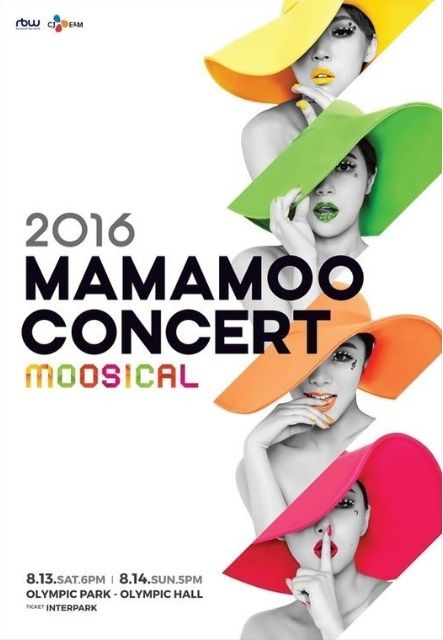 MAMAMOO's First Solo Concert 'MOOSICAL' Will Held at Seoul Olympic Hall on August 13 and 14