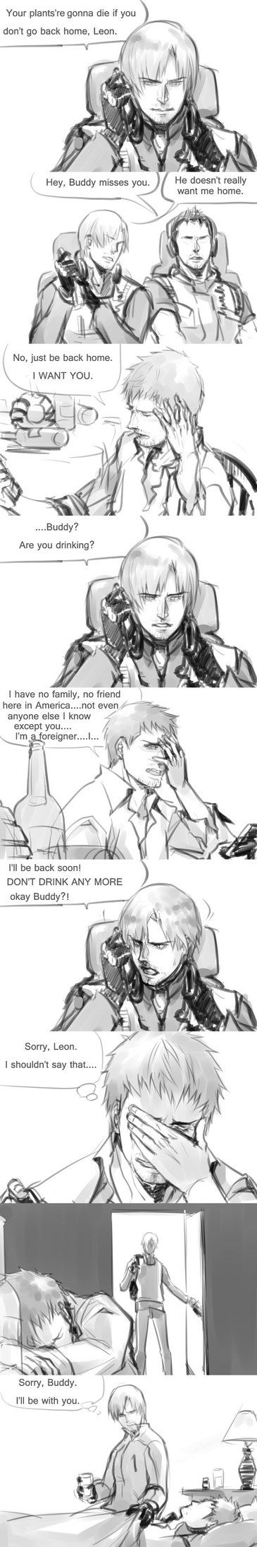[Resident Evil:Damnation]Leon/Buddy small comics.. by eilinna on DeviantArt