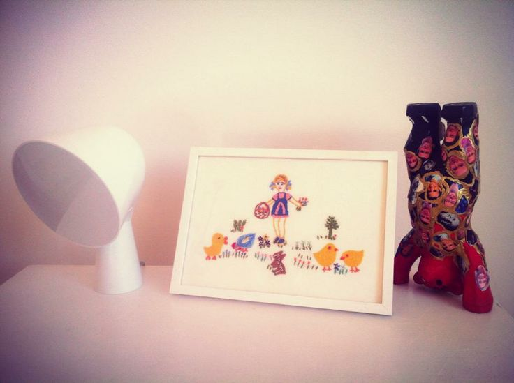 Pola's Pictures at Home #polaparysek #kids #embroidery #stiches #craft #handmade #tradition #freetime #onceuponatime #fairytale #storytelling