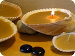 Homemade seashell candles