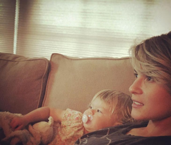 'B&B' News: Linsey Godfrey's Adorable Aleda Learning Yoga From Mommy Video