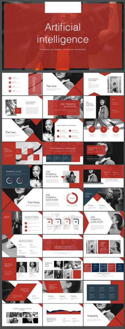 RED CREATIVE INFORME DE LA EMPRESA POWERPOINT   – powerpoint vorlagen