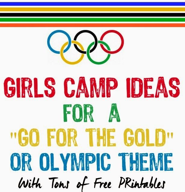 Girls Camp Ideas for Gold for the Gold or Olympic Theme from playpartypin.com
