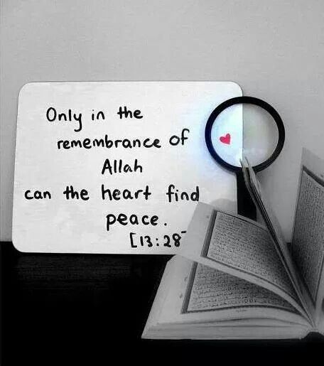 Remember of Allah can find peace