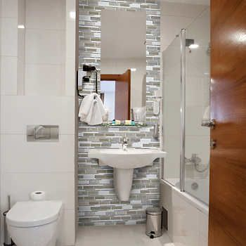 Golden Select Glass and Stone Mosaic Wall Tile - Colorado