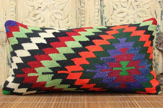 İnterior Desing Couch Vigorous Pillow 12 x 24 by kilimwarehouse
