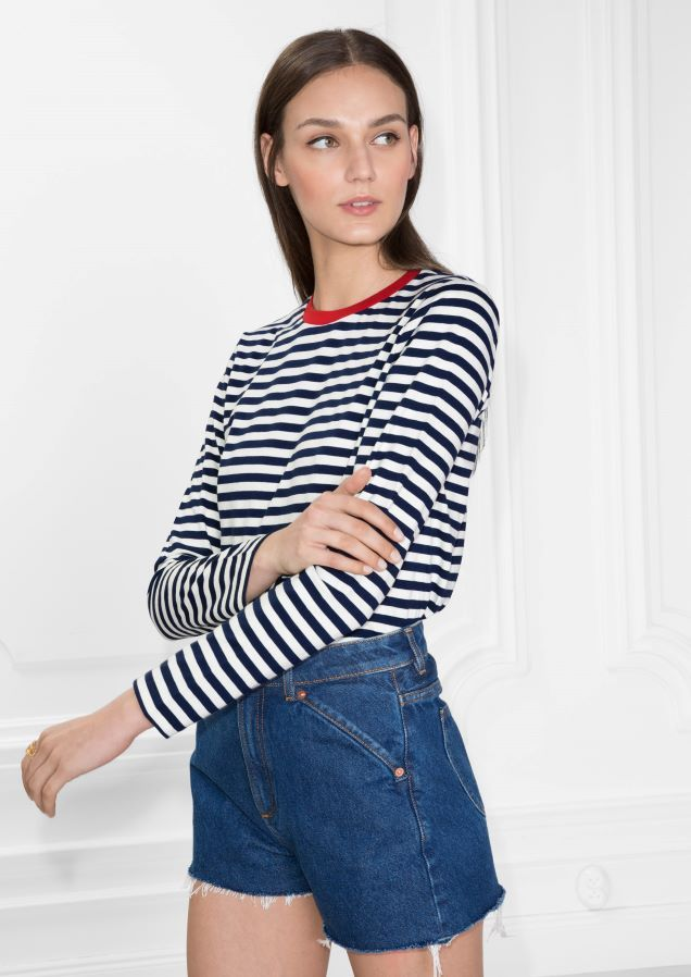 & Other Stories image 2 of Striped Sweater  in Blue