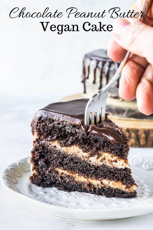 Chocolate Peanut Butter Vegan Cake Recipe Vegan Dessert Recipes Vegan Desserts Vegan Chocolate