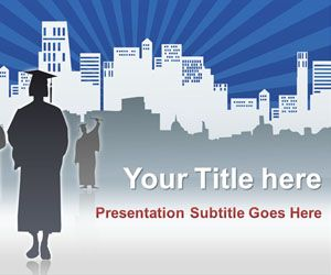 Graduated PowerPoint template is a free PPT template for University that you can download to make PowerPoint presentations on graduation