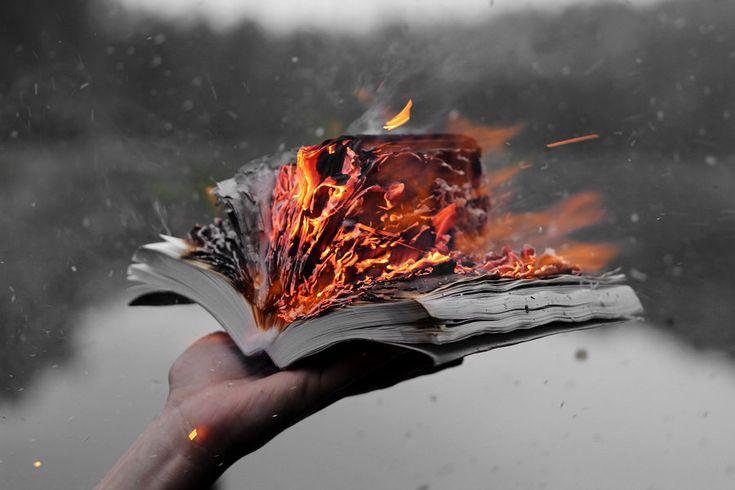 Résultats de recherche d'images pour «burning book tumblr»