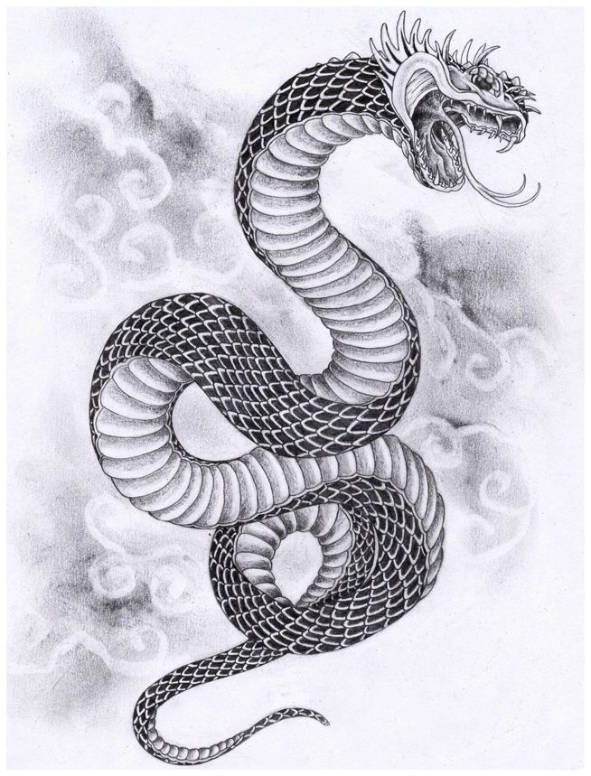 Japanese Tattoo Designs and Meanings : Japanese Snake Tattoo Designs