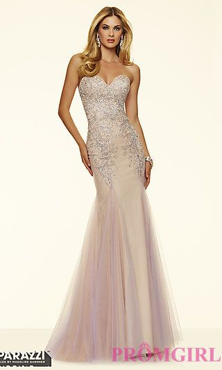 Strapless Sweetheart Mori Lee Prom Dress at PromGirl.com
