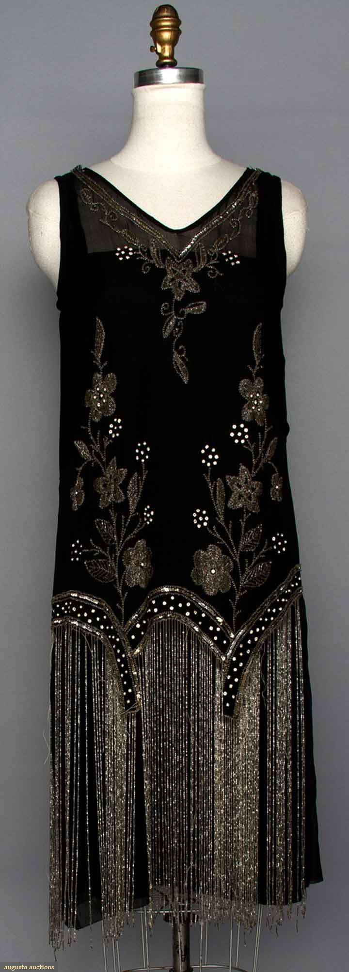 Beaded Flapper Dress, Augusta Auctions, MAY 13th & 14th, 2014, Lot 123
