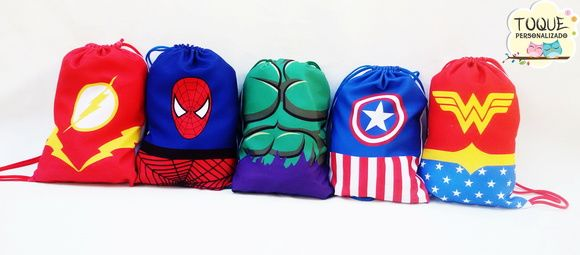 Mochila Personalizada Super-heróis
