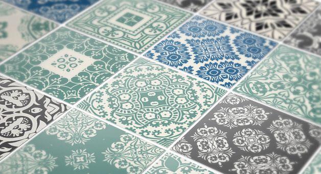 Surtido de 36 adhesivos para decoración de vinilo de azulejo  Diga adiós a los azulejos gastados!  Gracias a la excelente calidad, los vinilos se adaptan a cualquier superficie lisa, menos...