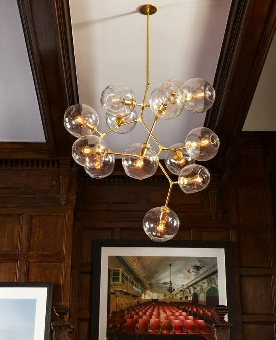 Peonies + Brass: shit i'm not sick of: bubble branch chandeliers (+ the diy version on my radar)