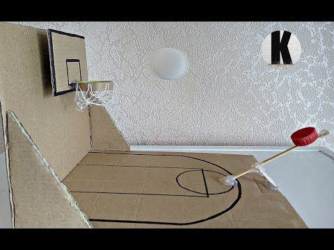 How To Make Amazing Diy Basketball Game At Home Out Of Cardboard Youtube Diy Basketball Basketball Crafts Diy Crafts How To Make