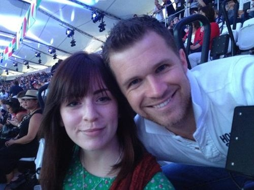 Gemma Styles and Greg Horan at the Closing Ceremony. how cute would that be if they got together!