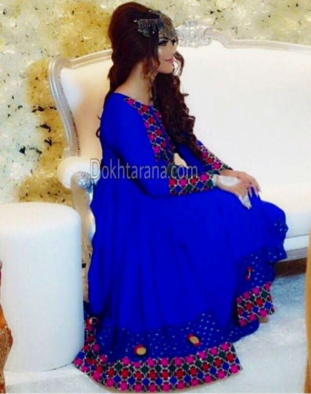 #afghan #style #dress #royalblue