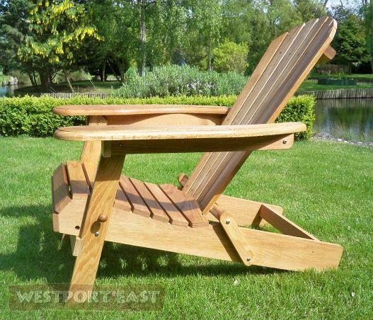 Adirondack Garden Chairs : Iconic Adirondack Chair (Oak) Made in UK