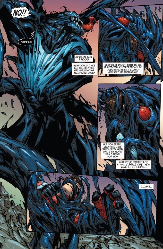 The Superior Spider Man Fights Venom Symbiote In