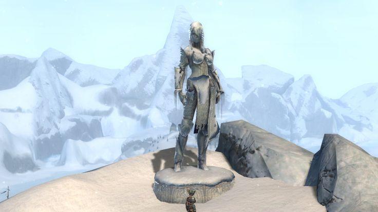 Statue de #Jora héroine Norne de #GW1  #GW2 #CimesFroides