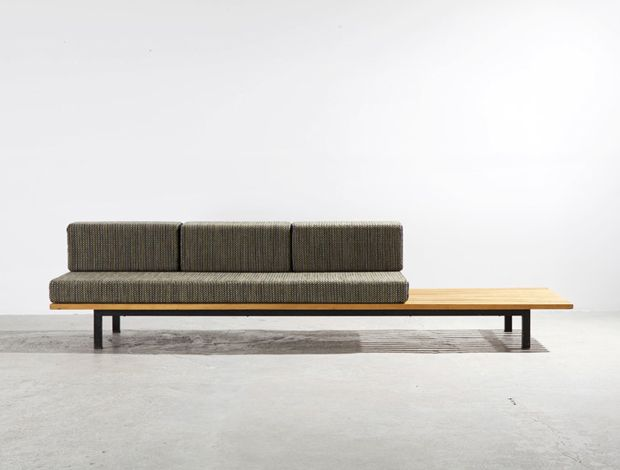 Bench by Charlotte Perriand, 1958. Metal and Wood.