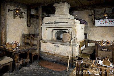 Russian stove. by Elena Rostunova, via Dreamstime