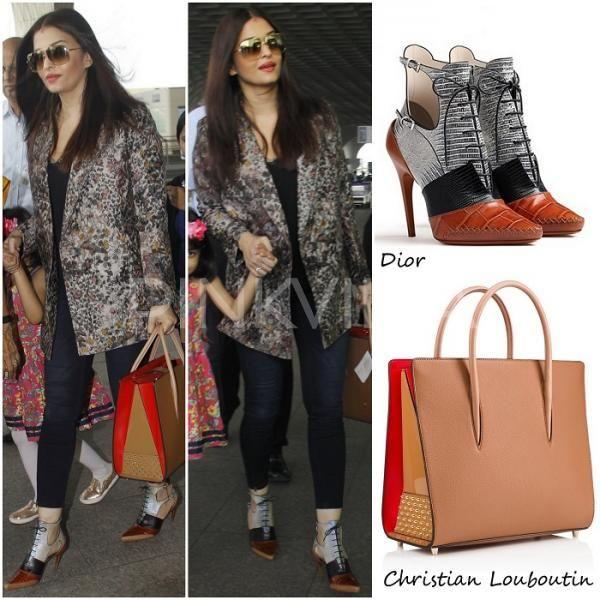 Airport Style : Aishwarya Rai Bachchan in Hemant and Nandita | PINKVILLA