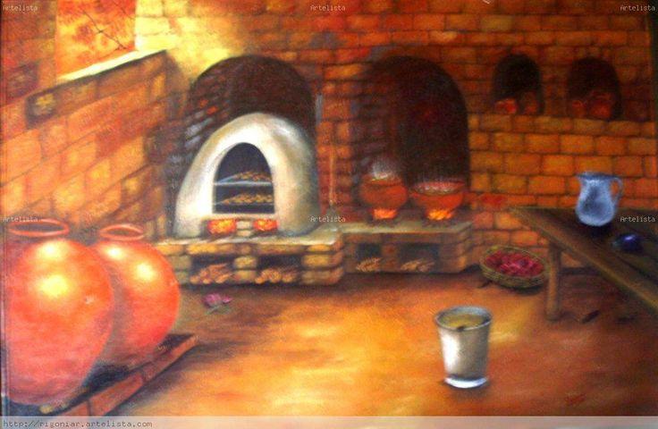 cuadros de pintura cocina antigua - Buscar con Google