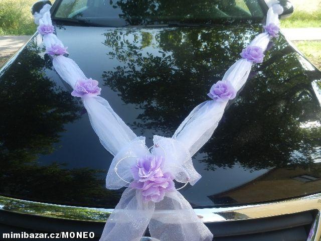Svatební dekorace výzdoba na auto ŠERPA