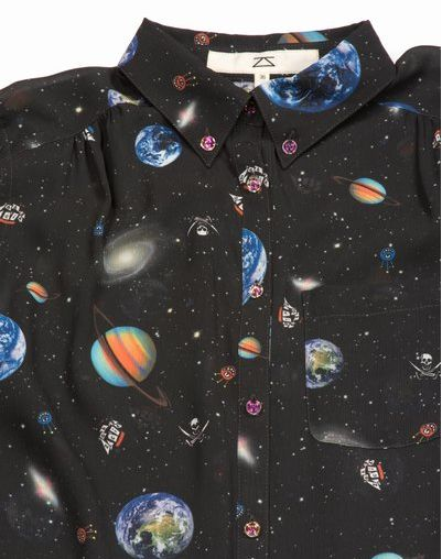solar system and pirates. (i know everyone's already past the space apparel phase but im still here because the solar system on a shirt is rad as hell)