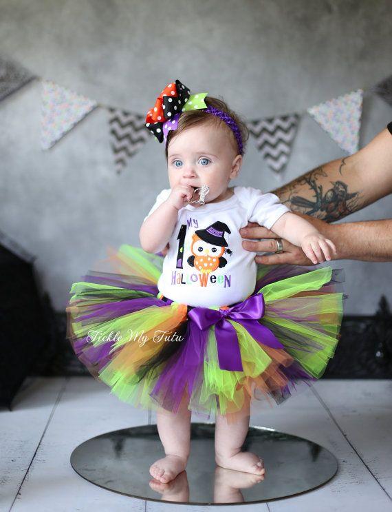 My First Halloween Tutu Outfit-Halloween Tutu by TickleMyTutu