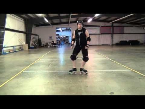 Roller Derby Basics: Heel kick intro - YouTube
