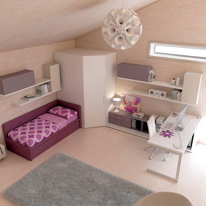 cameretta tortora : Arredamento #cameretta #cabina #armadio Wide in frassino bianco # ...