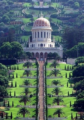 Hanging Gardens of Haifa (garden terraces around the Shrine of the Bab on Mount Carmel) Israel | Incredible landscape | What to do when you travel in Israel