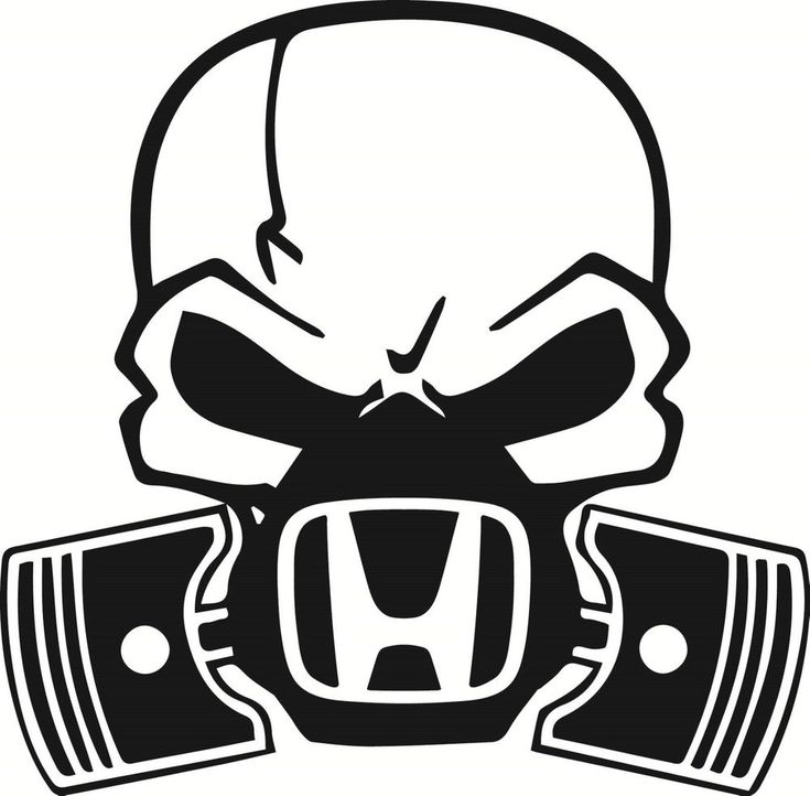 Skull Piston gas mask Decal Sticker Car Honda Civic JDM Drift Hoon Turbo Stance in Vehicle Parts & Accessories, Car, Truck Parts, Decals, Badges, Detailing | eBay!