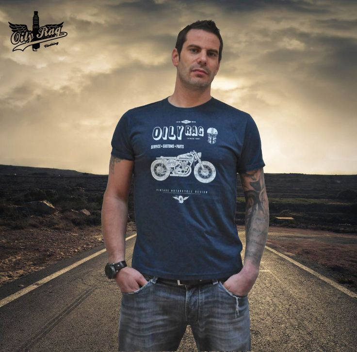 Oily Rags Shed build biker T shirt