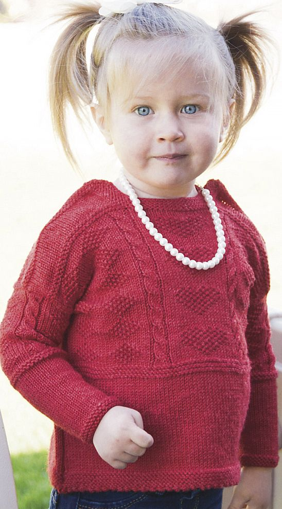 4f82625e5e59 Free Knitting Pattern for Wee Gansey Sweater - This baby pullover ...
