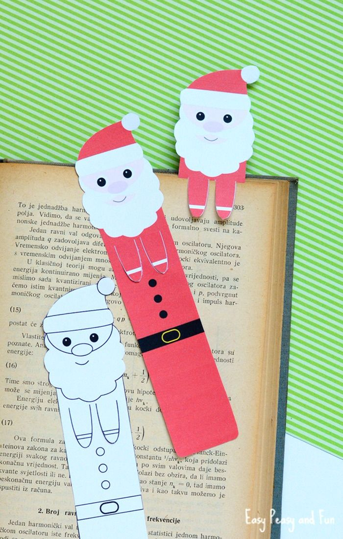 It's time to get festive with a set of printable Santa bookmarks. These are wonderful even as gifts to friends and family members and as there is one that can be colored, your child can make a very unique design of their own.