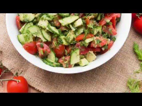 Tomato Cucumber Avocado Salad —Salad Menu