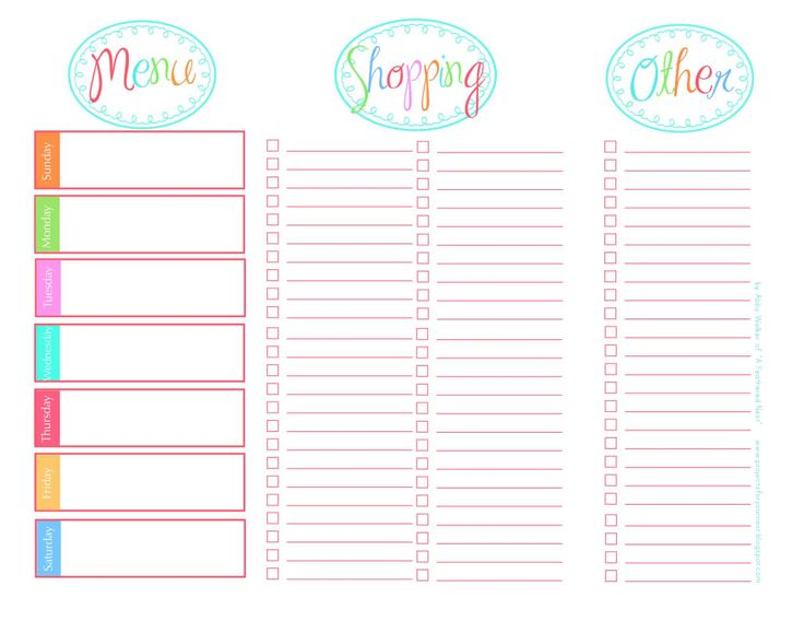 free printable menu planner and shopping list koni polycode co